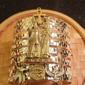 Newly designed gold tone cuff bracelet